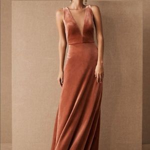 BHLDN Jenny Yoo Logan Velvet Dress